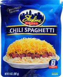 Skyline Chili Spaghetti Microwaveble Pouch 6 Pack