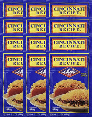 Cincinnati Recipe Chili Mix 2.25oz 12 Pack