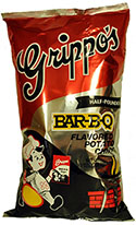 Grippos BBQ Potato Chips Half Pounder 8oz Bags 12ct Box