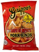 Grippos Hot and Spicy Pork Rinds 30ct Box