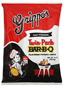 Grippos BBQ Potato Chips Twin Packs 8oz Bags 6ct Box