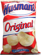 Husmans Plain Potato Chips 1oz Bags 42 Count