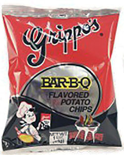 Grippos BBQ Potato Chips 1oz Bags 60ct Box