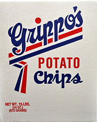 Grippos Plain Potato Chips 1.5lb Box