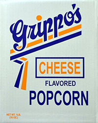 Grippos Cheese Flavored Popcorn 1lb Box