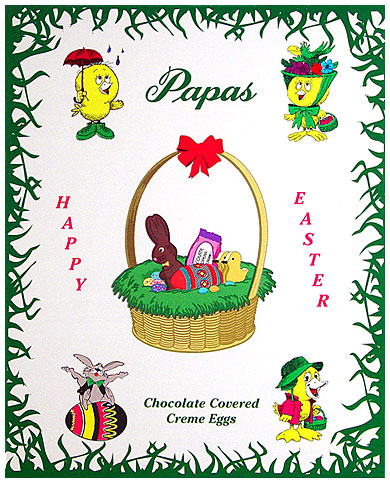 Papas Dark Chocolate Covered Mint Cream Eggs 24CT Box